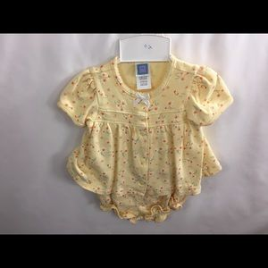 Little Me Girls Infant 6 mo 2pc Yellow with flower
